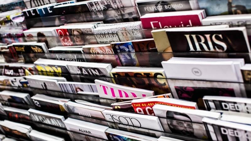陳列された雑誌