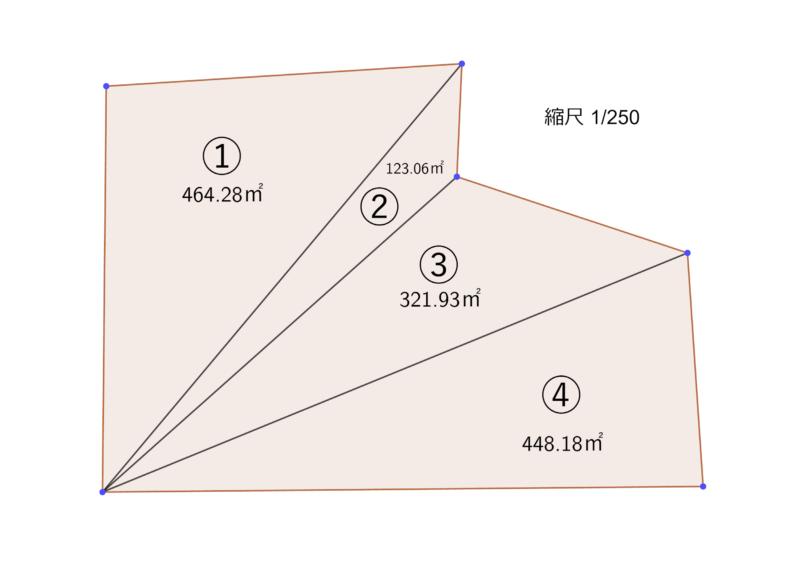 三角形の面積が書き込まれた図