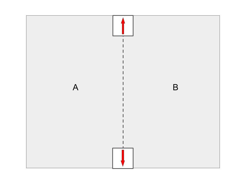 分譲地で直矢の境界標が使用される図