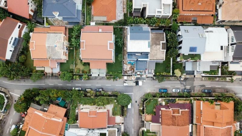 上空から見た住宅街