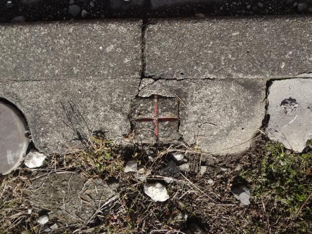 コンクリート杭十字の境界標