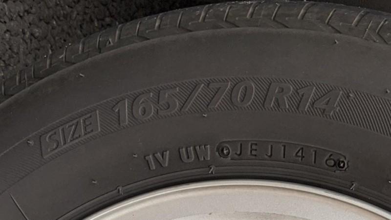 サイドウォールに書かれたタイヤサイズ